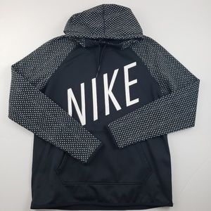 Nike womens black and white graphic pull over med